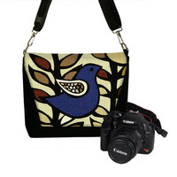 Padded Camera Bag DSLR Camera Bag SLR Camera by janinekingdesigns