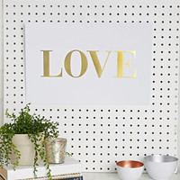 Sugar Paper Gold Love Print