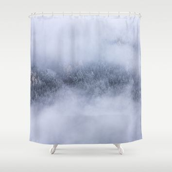 Beneath The Fog Shower Curtain by Mixed Imagery