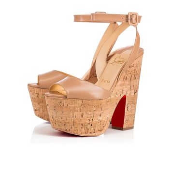 Super Dombasle 160 Nude/Natural Leather - Women Shoes - Christian Louboutin