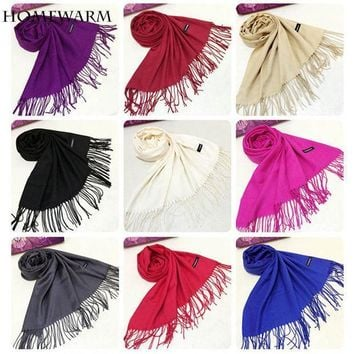 Luxury Brand Shawl Scarf Faux Cashmere Scarf Wrap  Women's Scarves Winter Scarf Tassel Long Blanket Cachecol Foulard
