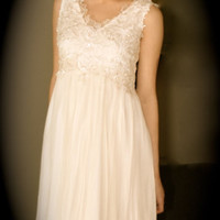 Super elegant short ivory,  dress, romantic, glam, hollywood style, 40s, 50s style, unique and elegant, IN STOCK