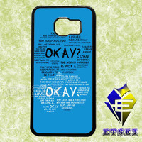 The Fault in Our Stars quote case For Samsung Galaxy S3/S4/S5/S6 Regular/S6 Edge and Samsung Note 3/Note 4 case