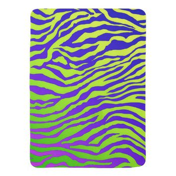 Green Zebra Receiving Blanket