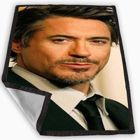 Robert Downey Jr Blanket for Kids Blanket, Fleece Blanket Cute and Awesome Blanket for your bedding, Blanket fleece *