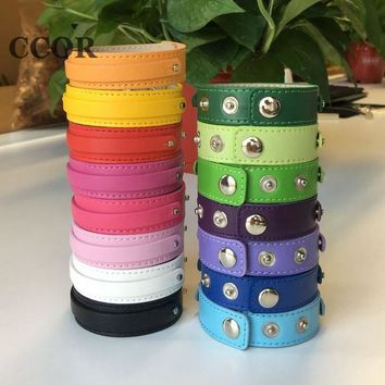 CCOR, 10pcs 8mm*100mm+18mm*200mm Snap Button Copy Leather Bracelets Fit 8mm Slide Charms, Slide Beads, Slide Letters, SWD001