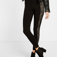 high waisted lace inset legging