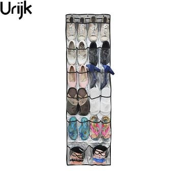 Urijk Multi-function Non-woven 22 Pockets Shoes Storage Hanging Bag Wall Door Hanging Organizers Rangement Chaussure 45*150cm