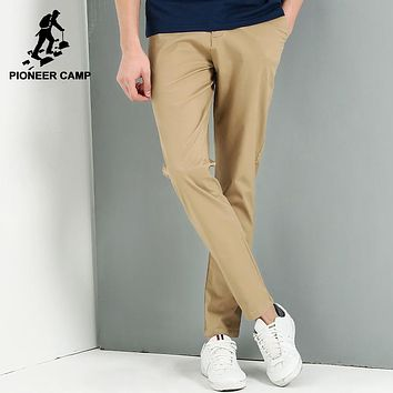 New Khaki casual pants men clothing fashion simple trousers male top quality elastic slim fit pants