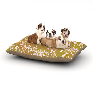 "Iris Lehnhardt ""Twigs Silhouette Neutral"" Earthy Dog Bed"