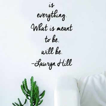 Lauryn Hill Everything is Everything Quote Wall Decal Sticker Room Art Vinyl RnB Rap Hip Hop Lyrics Music Inspirational