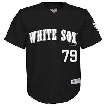 Mlb Chicago White Sox Boys Player Fashion Jersey Abreu Black 12/14