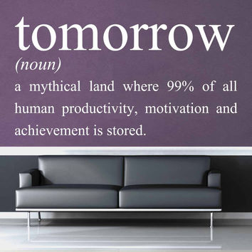 Definition of Tomorrow - Wall Decal$19.95