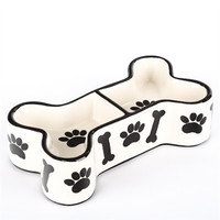 Dog Bone Ceramic Bowl