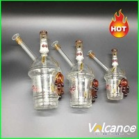 Starbucks Glass Cup Oil Rigs 10mm 14mm 18mm Cheech Glass Honey Cup with One Pair of Tortoise Glass Bongs