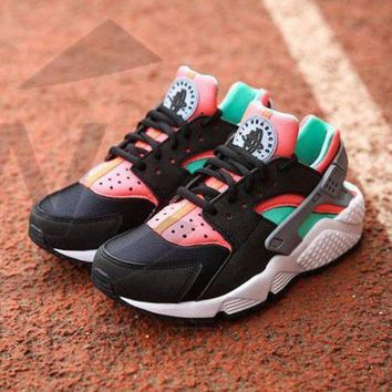 DCC3W Nike Air Huarache 1 Rainbow Ultra Breathe Men Women Hurache Black/Green/White Running Sport Casual Shoes Sneakers - 201