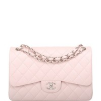 Madison Avenue Couture Chanel Baby Pink Quilted Caviar Jumbo Classic
