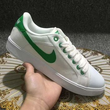 LMFUX5 Supreme x Nike Retro Air Jordan Sky OG Low White Green Shoes Sport Canvas Shoes