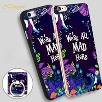 Minason mad here sea flower Mobile Phone Shell Soft TPU Silicone Case Cover for iPhone X 8 5 SE 5S 6 6S 7 Plus
