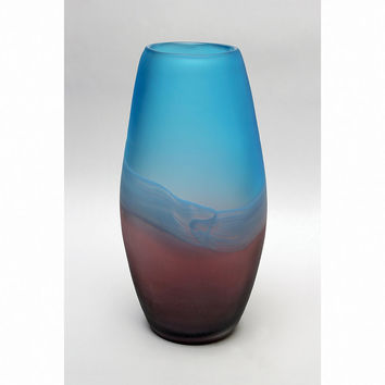 Park Avenue Collection Palo Duro 13In Glass Vase