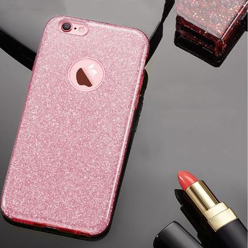 Ultra Thin Glitter Bling TPU 6 7 Cover Fashion Candy Crystal Soft Gel Phone Cases For iPhone 5 5s SE 6 6s 7 Plus