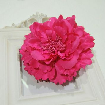 Fabric Flower Hair Clips,Flower Corsage Brooch Pins