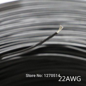 Tinned copper 22AWG Black cable electric wire PVC insulated wire Electric cable LED Lighting Strip Extension Electronic wire
