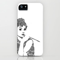 Boho Audrey Hepburn iPhone & iPod Case by Christine Hsu