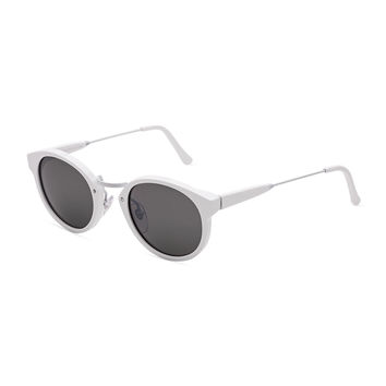 Panama Metric Cat-Eye Sunglasses, White - Super by Retrosuperfuture