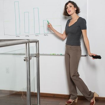 Taupe Dress Pant Yoga Pants from Betabrand | Betabrand Yoga Life