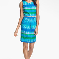 Calvin Klein Ikat Print Sheath Dress | Nordstrom