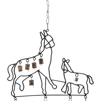 Durable Design Metal Horse Wind Chime