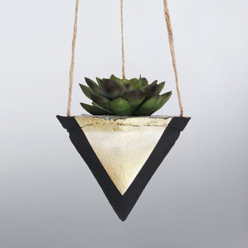 Air Planter, Hanging Planter, Succulent Planter, Concrete Planter, Black Planter, Modern Planter, Geometric Planter, Succulent Pot, Gold