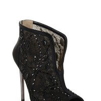 BCBG Deedie Peep-Toe Lace Dress Bootie