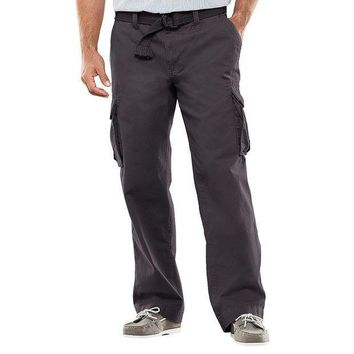 Sonoma Life + Style Relaxed Fit Slubbed Cargo Pants