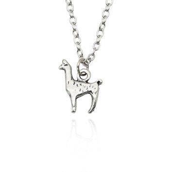 Trendy Alpaca Necklaces & Pendant Charm Pendant Vintage Stainless Steel Chain