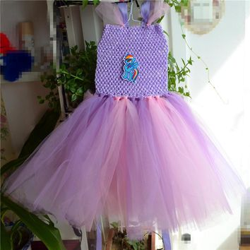 Baby Girls Princess Dress for Kids little pony small pig/Girls Short Tutu Dresses for Girl Christmas Costume