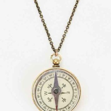 Compass Necklace- Gold One