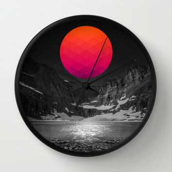 It Was Always There Wall Clock by Soaring Anchor Designs | Society6