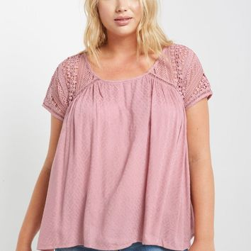 Petra Short Sleeve Top Plus Size