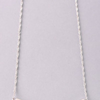 Curved Bar Necklace: Silver