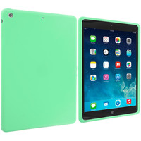 Mint Green Silicone Skin Case Cover for Apple iPad Air