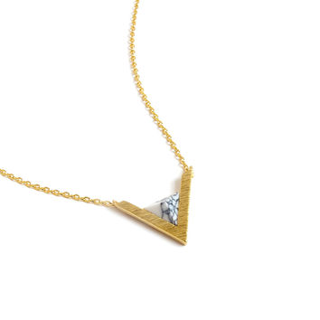 Delta Marble Necklace (Gold)
