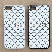 Cute Hipster Polar Bear iPhone Case, iPhone 5 Case, iPhone 4S Case, iPhone 4 Case - SKU: 170