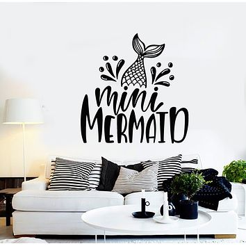 Vinyl Wall Decal Mini Mermaid Fish Fin Nursery Baby Room Decor Stickers Mural (g679)