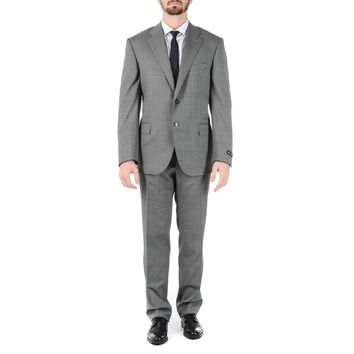 Corneliani Mens Suit Long Sleeves Grey Super 110's