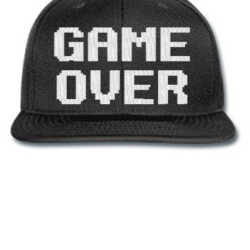 game over embroidery hat - Snapback Hat