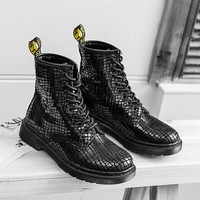 Hot Deal On Sale Leather Black England Style Boots [120850186265]
