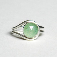 aventurine ring sterling silver eclipse ring by cowriegirl on Etsy