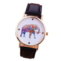 Elephant Quartz Wristwatch